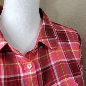 NWT Talbots Plaid Top